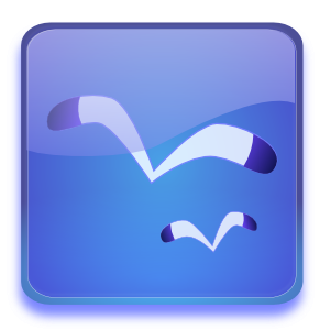 free vector Aqua Button With Seagulls clip art