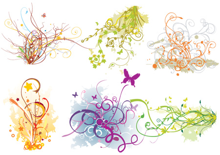 free vector Arabescos Swirl Flourish Vector