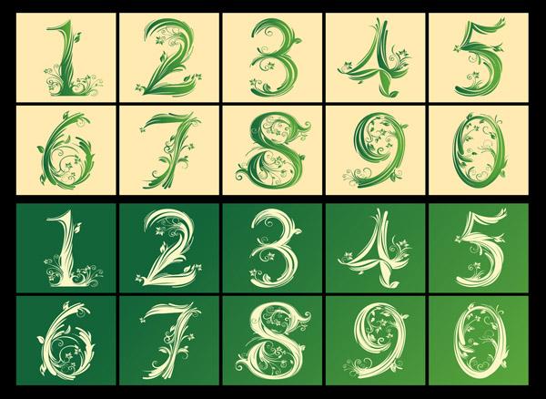 free vector Arabic numerals pattern vector