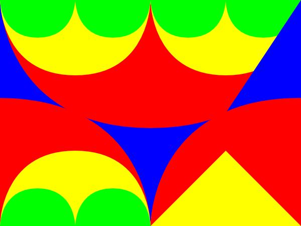 free vector Arches Interlocking 3 Pattern clip art