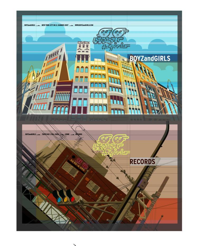 free vector Architect design city landscape