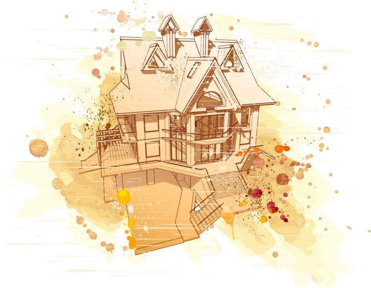 free vector Architectural series vector 11