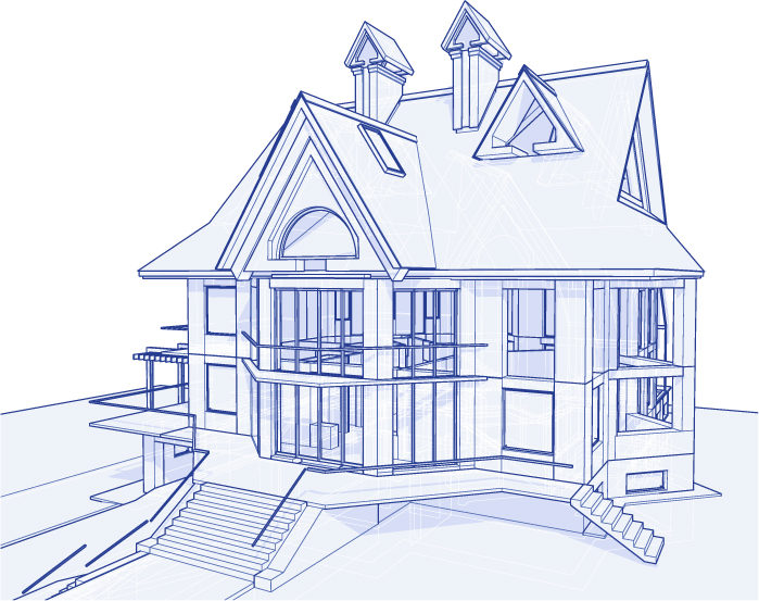 free vector Architectural series vector 3