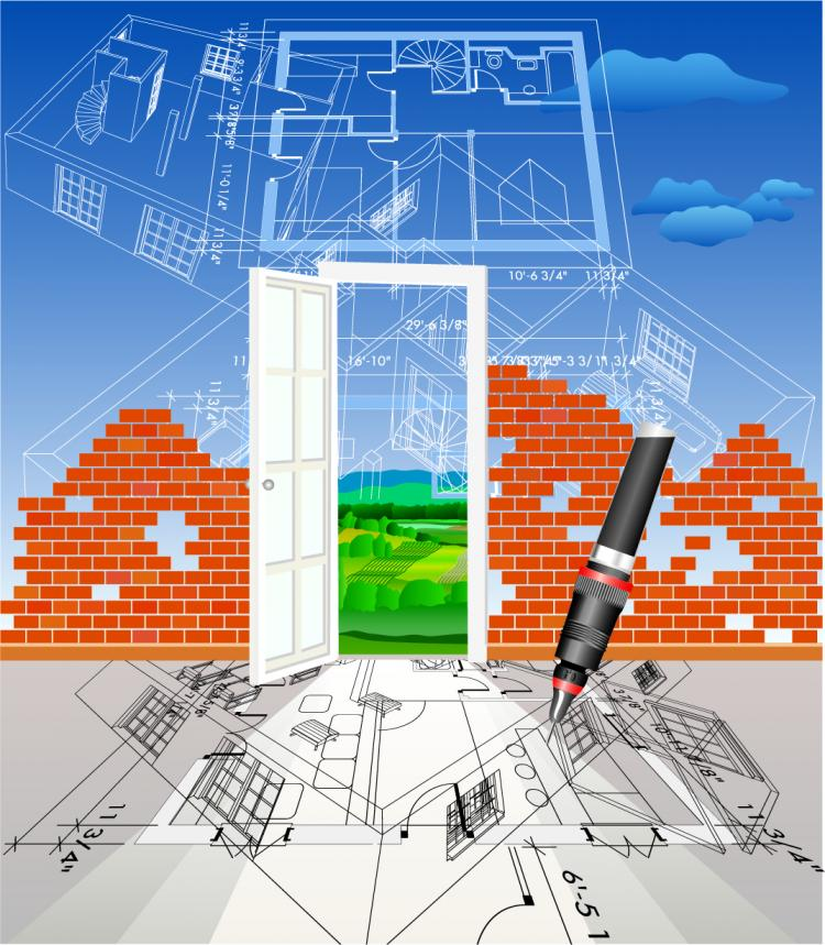 free vector Architectural series vector 7