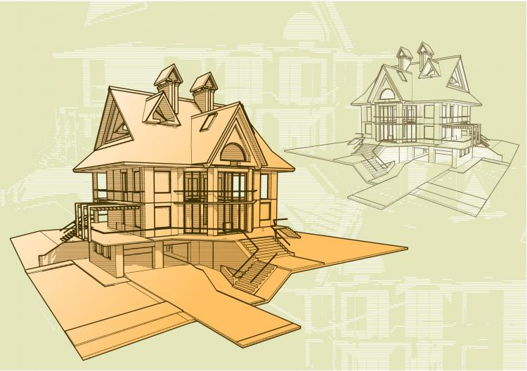 free vector Architectural series vector 9