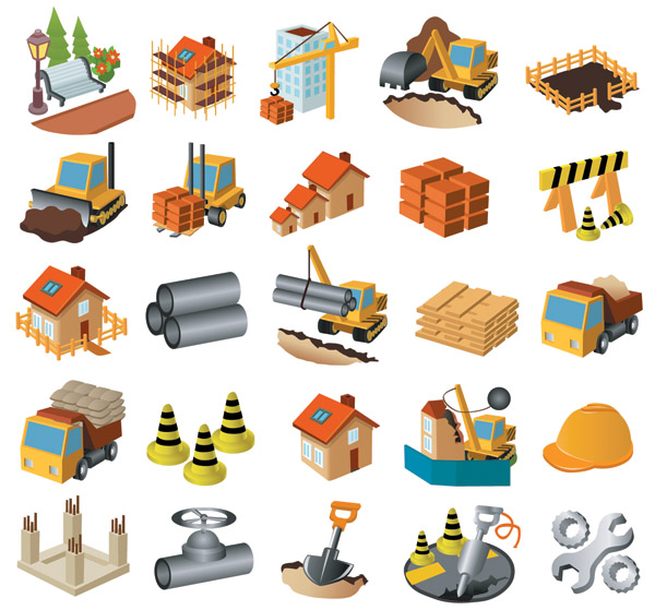 free vector Architectural theme icon vector