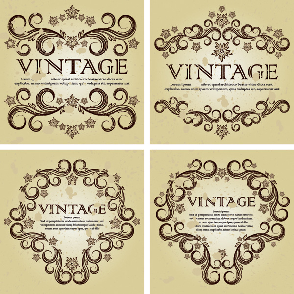 free vector Are hundreds of gorgeous european pattern vector