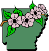 free vector Arkansas Map And Flower clip art