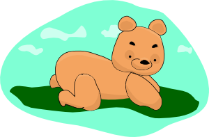free vector Arking Teddy Bear clip art