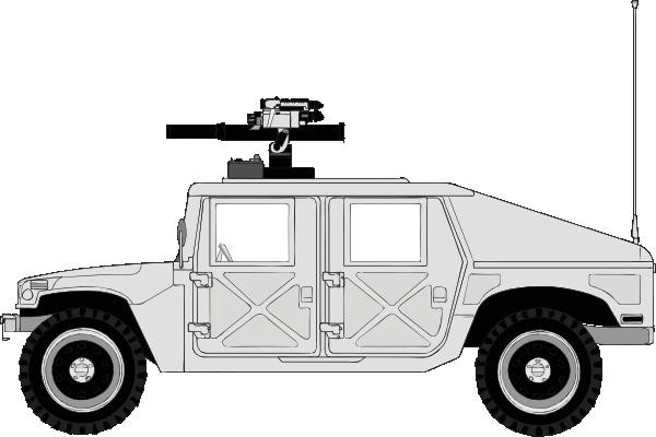 free vector Armed Hummer clip art