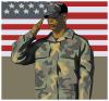 free vector Army Veteran clip art