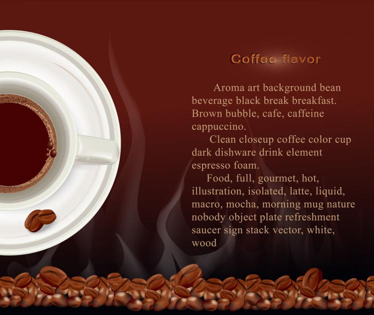free vector Aromatic coffee theme vector