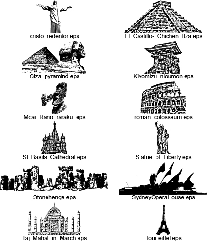 free vector Around the world