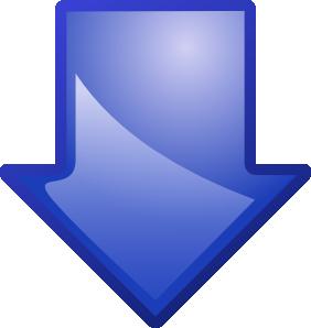 free vector Arrow Blue Down clip art