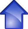 free vector Arrow Blue Up clip art
