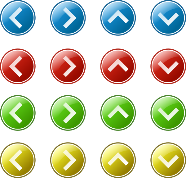 free vector Arrow Button Set clip art