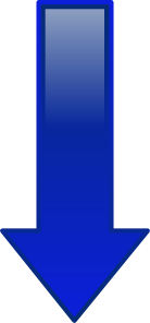 free vector Arrow-down-blue clip art