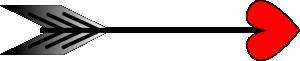 free vector Arrow-heart clip art
