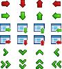 free vector Arrow Icon Set clip art