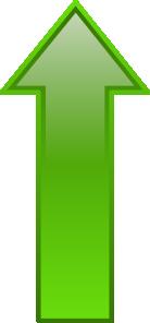 free vector Arrow-up-green clip art