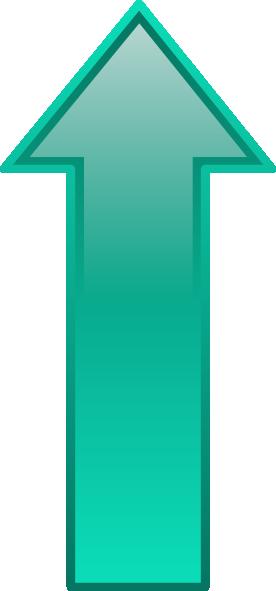 free vector Arrow-up-seagreen clip art