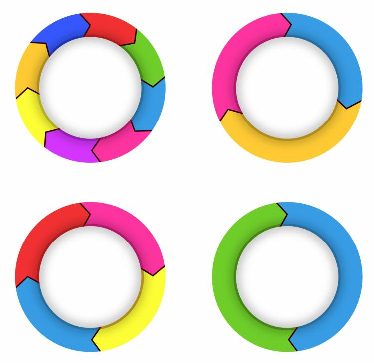 free vector Arrows in a circle flow