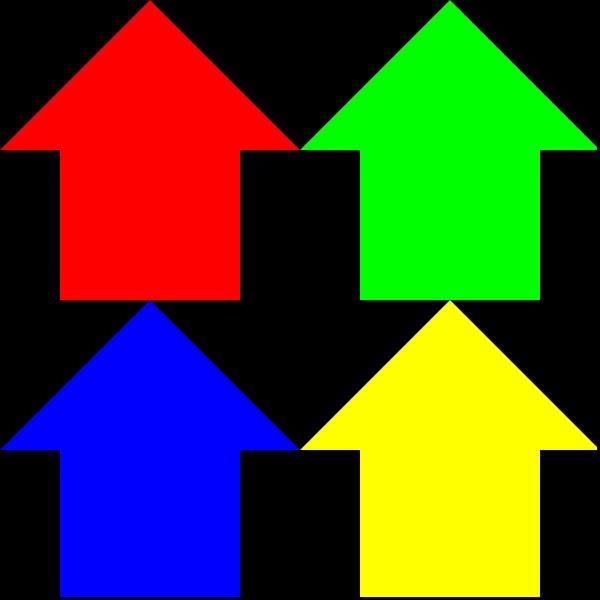 free vector Arrows Reverse 3 Pattern clip art