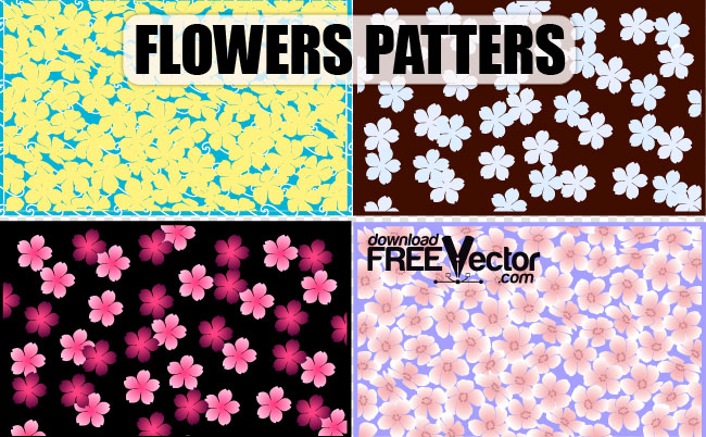 free vector Art Vector Flowers Patterns