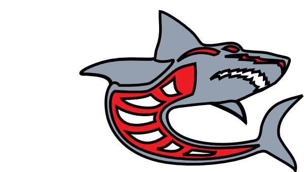 free vector Ashed Shark Grey Red By Ashed clip art