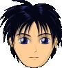 free vector Asian Anime Boy Head clip art