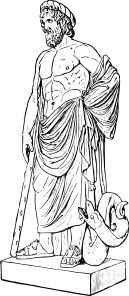 Free Coloring Pages God Asclepius