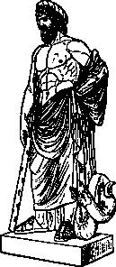 Asklepios Statue clip ...