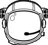 free vector Astronaut S Helmet clip art