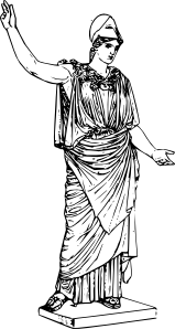 free vector Athena clip art