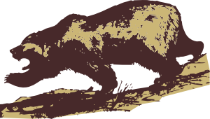 free vector Attacking Bear clip art