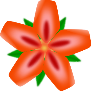free vector Atulasthana Red Flower clip art