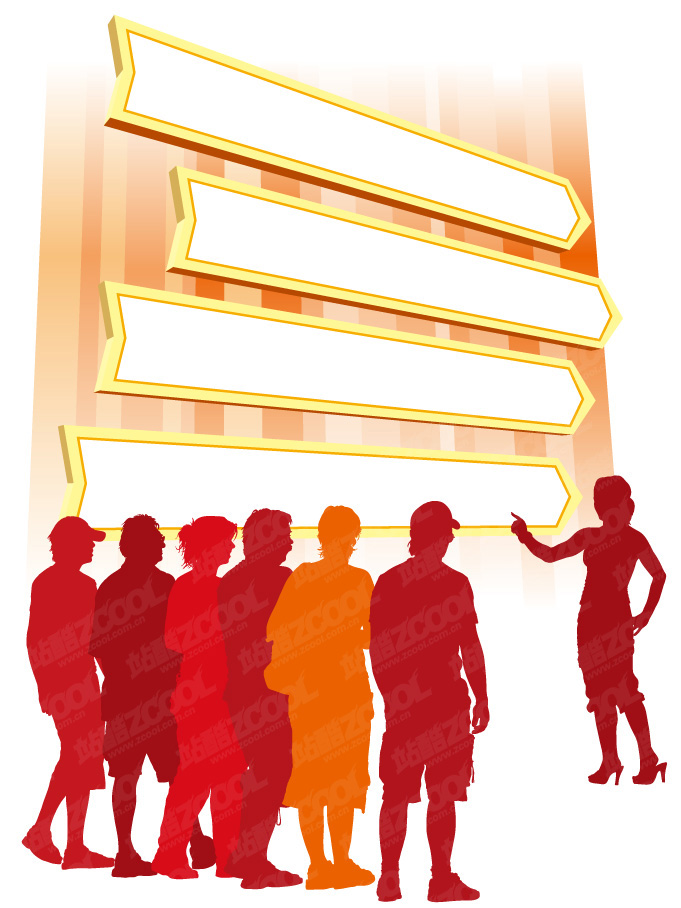 free vector Audience figures silhouette vector material