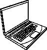 free vector Aurium Laptop In Line Art clip art