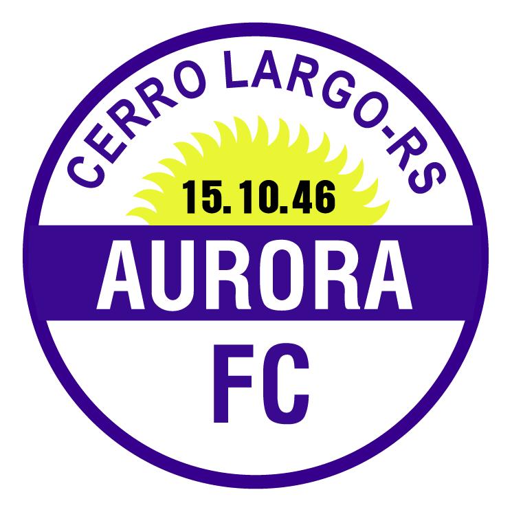 free vector Aurora futebol clube de cerro largo rs