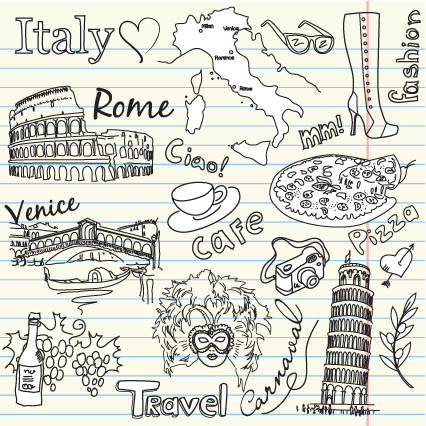 free vector Australia and italy theme vector