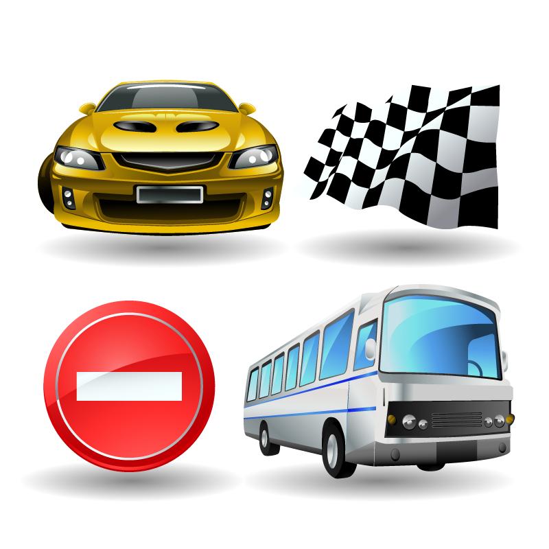 free vector Automotive entertainment calendar icon vector material