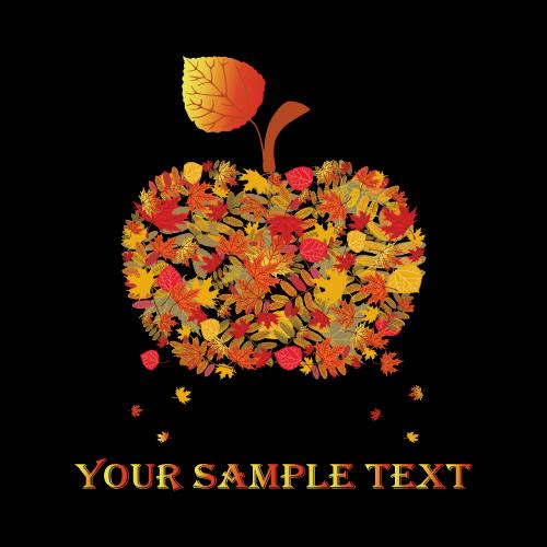 free vector Autumn autumn fruit 04 vector