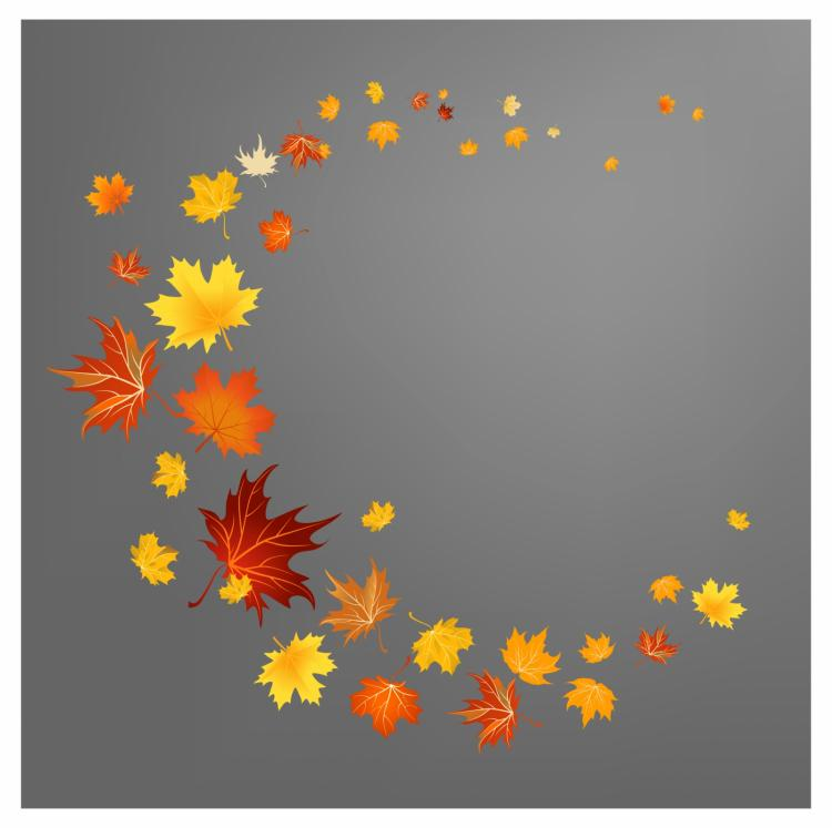 free vector Autumn leaves background