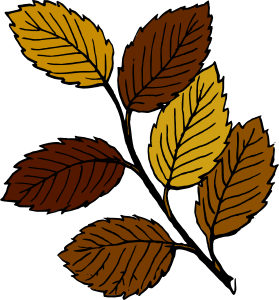 free vector Autumn Leaves On Branch clip art