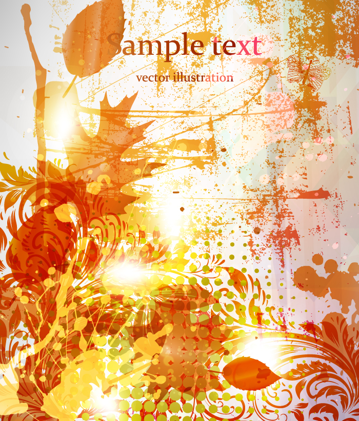 Autumn Maple Leaf Poster 3362 Free Ai Download 4 Vector