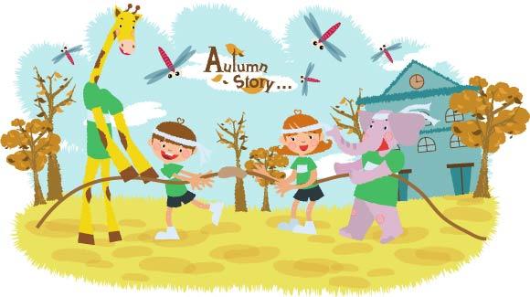 free vector Autumn tale vector 10