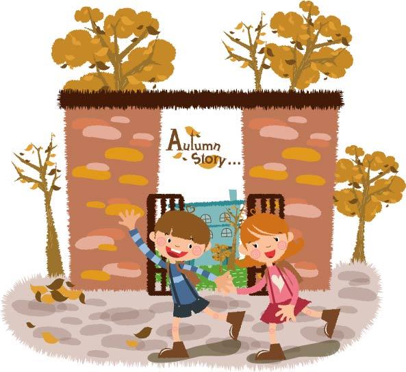 free vector Autumn tale vector 5