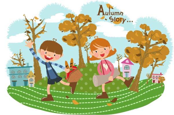free vector Autumn tale vector 6