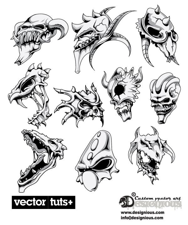free vector Avatar of warcraft terror 03 vector