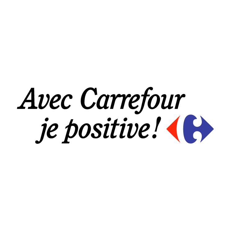 free vector Avec carrefour je positive